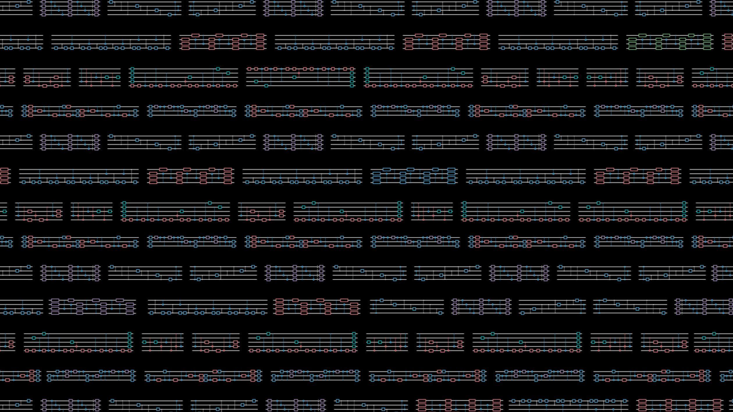Artistic rendering of IBM Quantum Composer interface for IBM Qiskit Runtime.