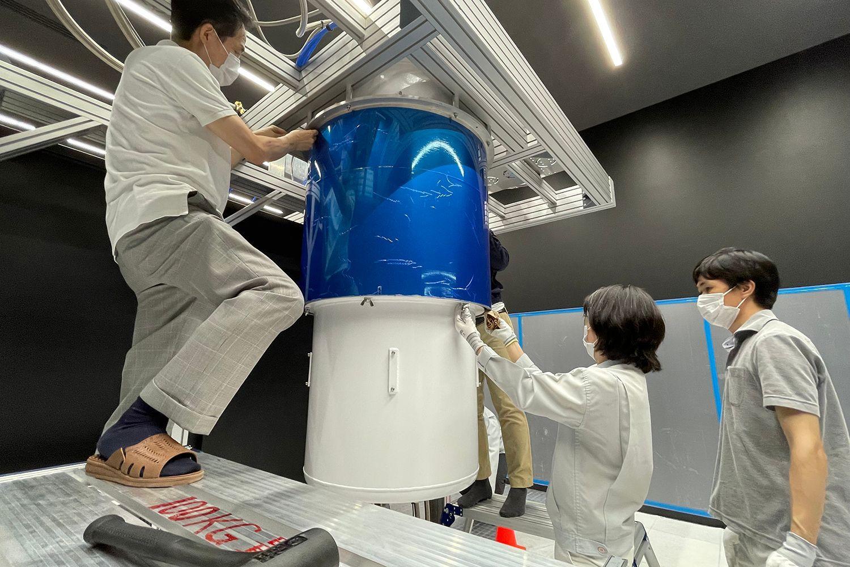 IBM Quantum System One installation at at the Kawasaki Business Incubation Center in Kawasaki City, Japan.