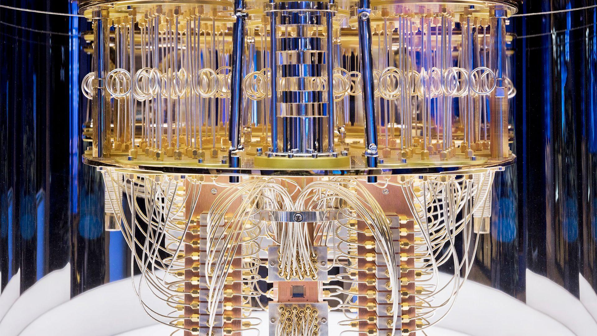 IBM Quantum Challenge 2021 (image of interior quantum computer)
