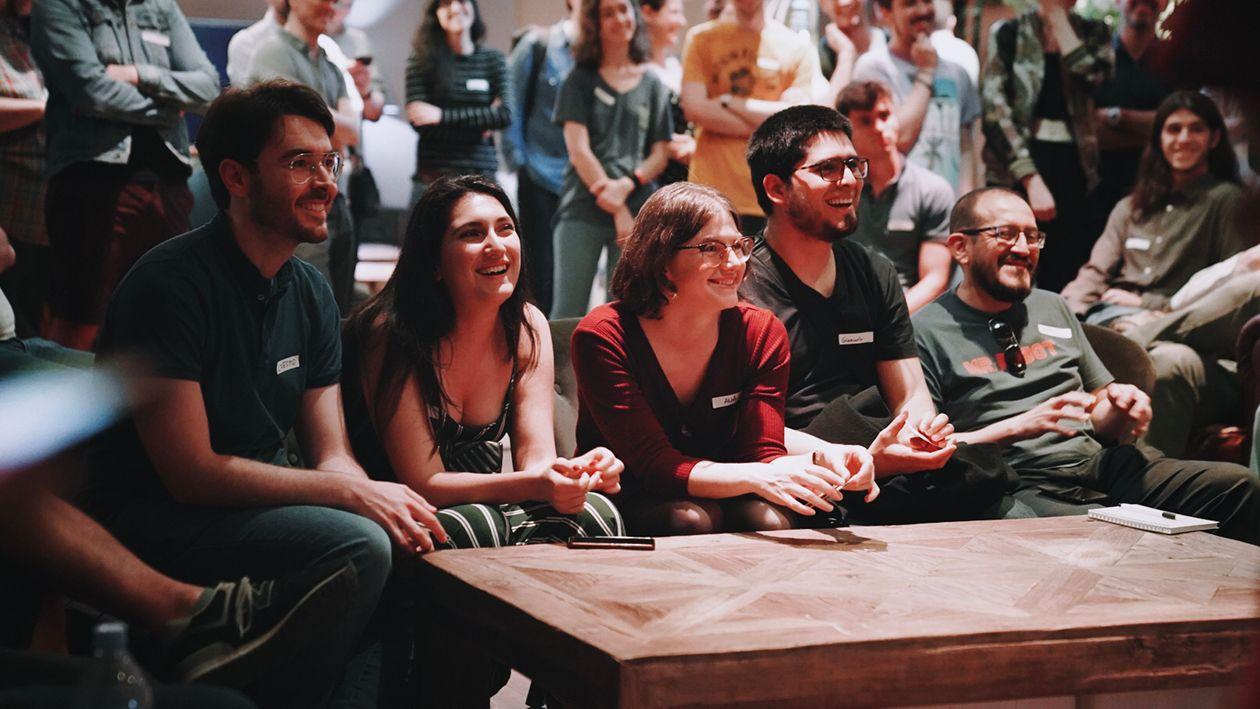 IBM Quantum community members participating in a 2019 Qiskit Camp in Madrid.